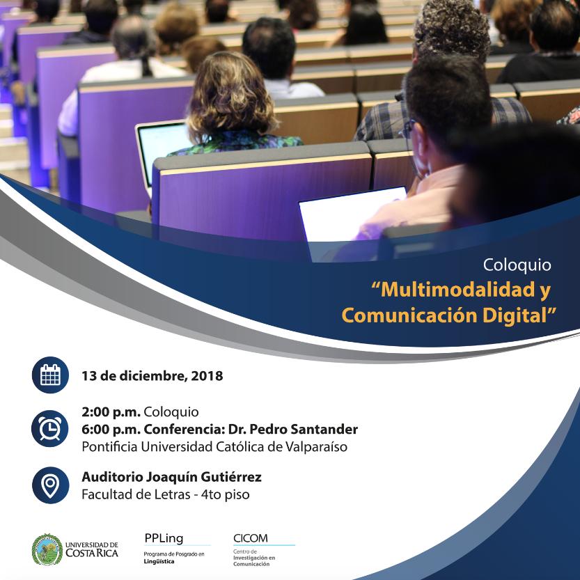 Invitación Coloquio Multimodalidad y Comunicación Digital